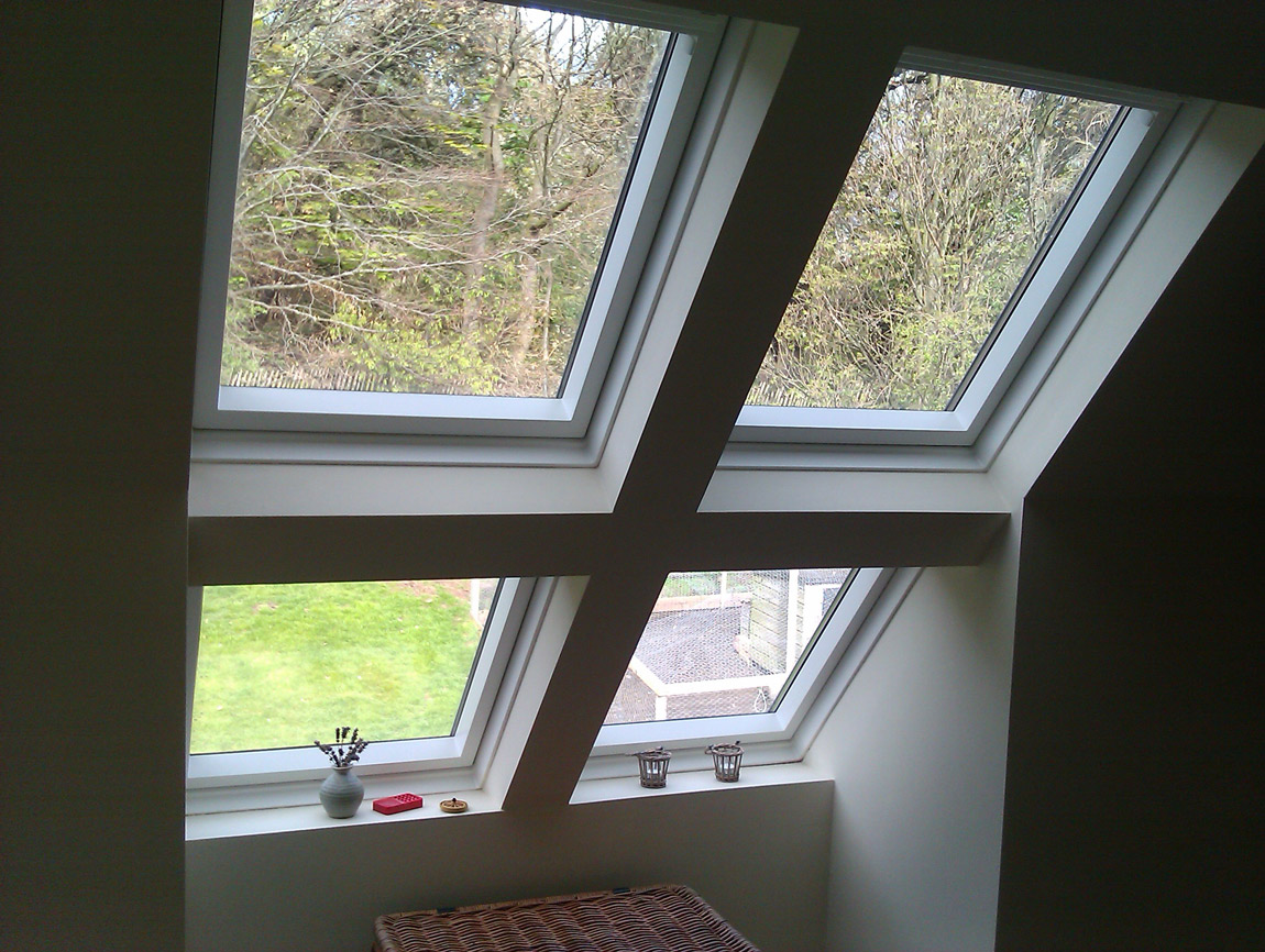 formation of 4no velux roof windows to stairwell