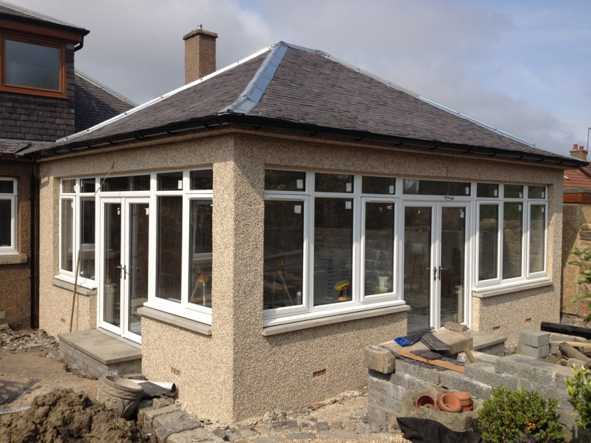 large glazed sunroom extension