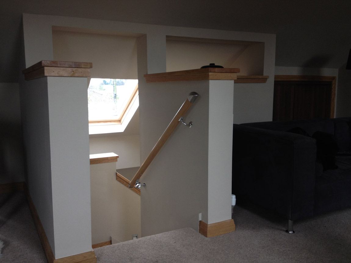open plan attic conversion with velux over stairwell