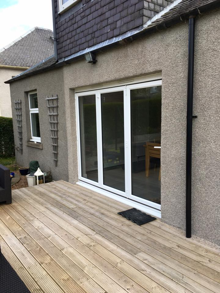 removal of externall wall and installation of bi-fold doors (2)