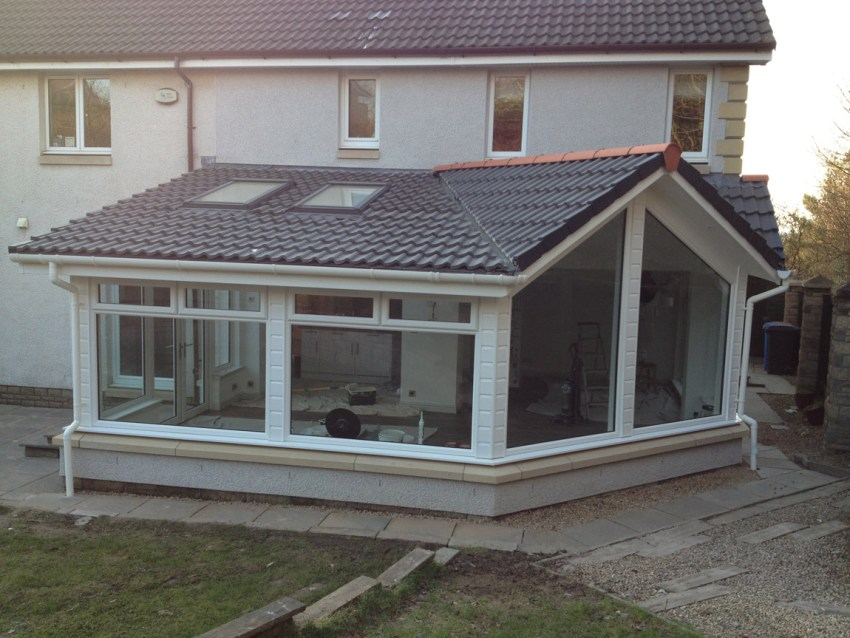 steel framed extension