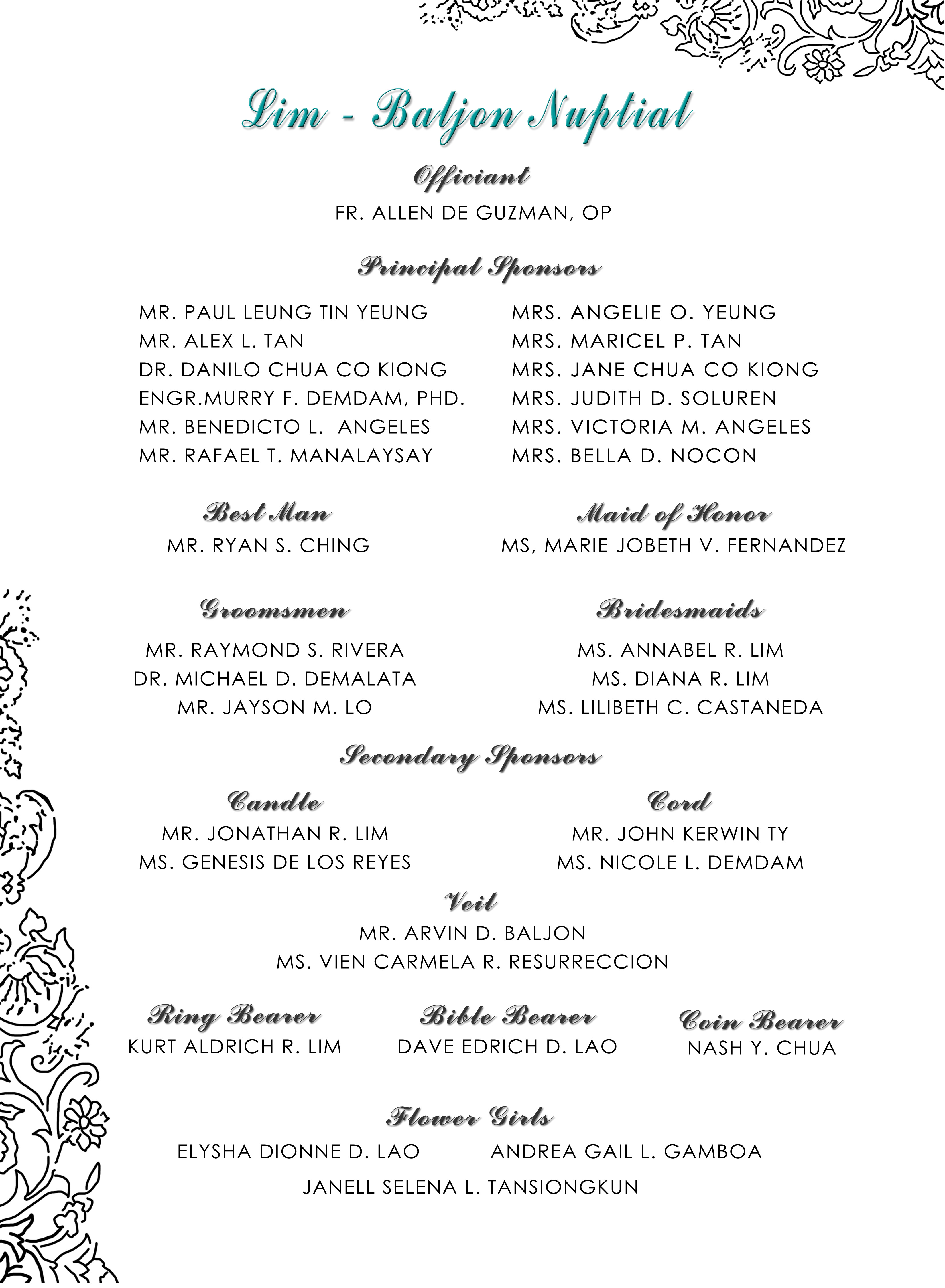 invitation_page3_sponsors  Andrew  Madel The Wedding