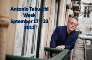 Antonio Tabucchi Week