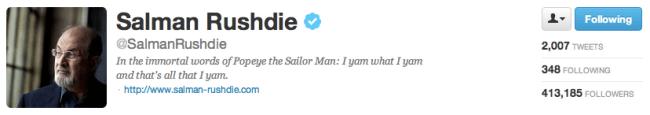 Salman Rushdie on Twitter