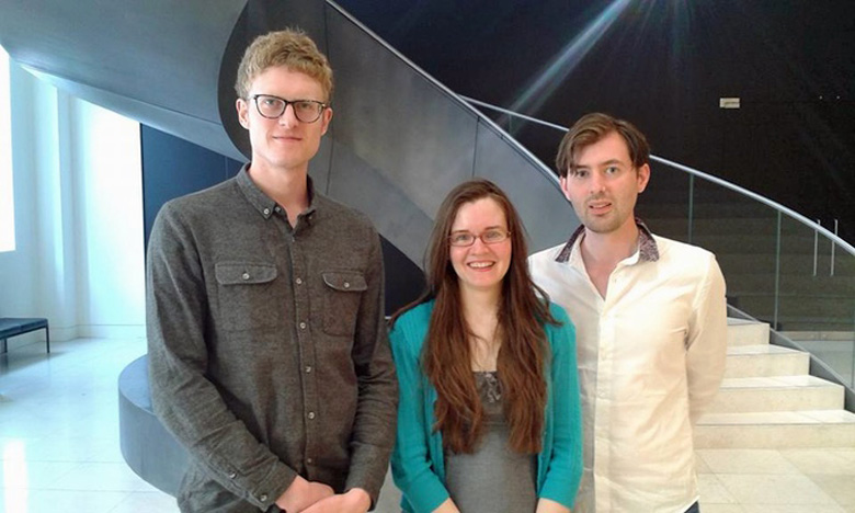 The Dodo Ink team of Alex Spears, Sam Mills and Thom Cuell