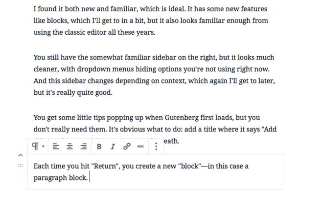Blocks in WordPress Gutenberg