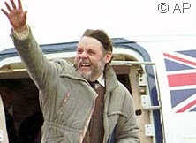 FREE AT LAST_Terry Waite arriving at RAF Lyneham airbase in the UK following a 5-year ordeal.