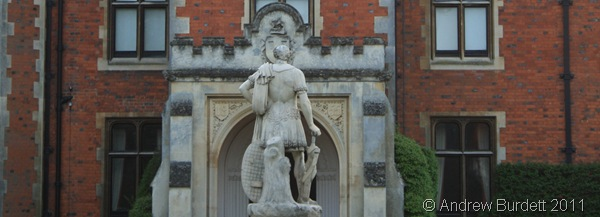 STANDING TALL_A statue at the front of Taplow Court.