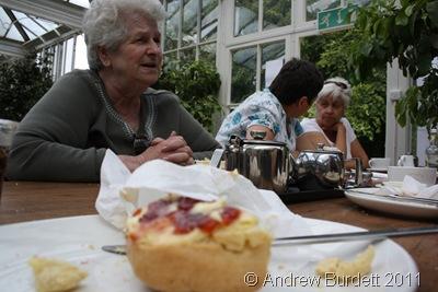 TEA AND SCONES_A cream tea in the Orangery restaurant.