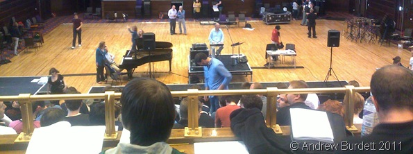 REHEARSALS UNDER WAY_Before the orchestra arrived, the choirs rehearsed with just a piano.