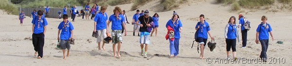 BEACH PARTY_The Berkshire Unit make their way onto Welsh sands, before enjoying afternoon at the seaside during a training camp.