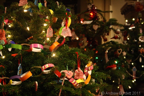 HAND DECORATED_The Munchkins pre-school tree.
