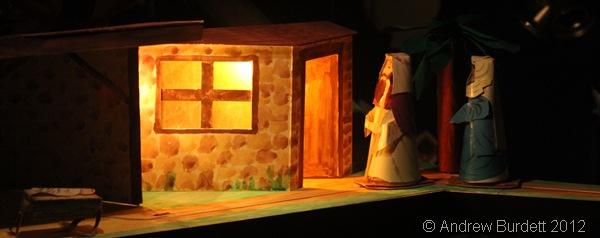 NO ROOM AT THE INN: Joseph and Mary approach the inn. (IMG_1514)