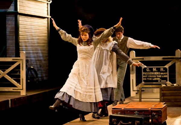 THE RAILWAY CHILDREN_The three children are played by adult actors, looking back on their childhood.