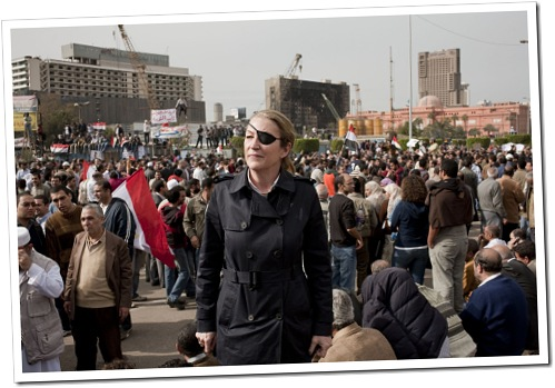 AN EYE FOR A STORY: Marie Colvin, despite losing her sight in one eye, continued to work in difficult journalistic locations, until being killed on Wednesday.