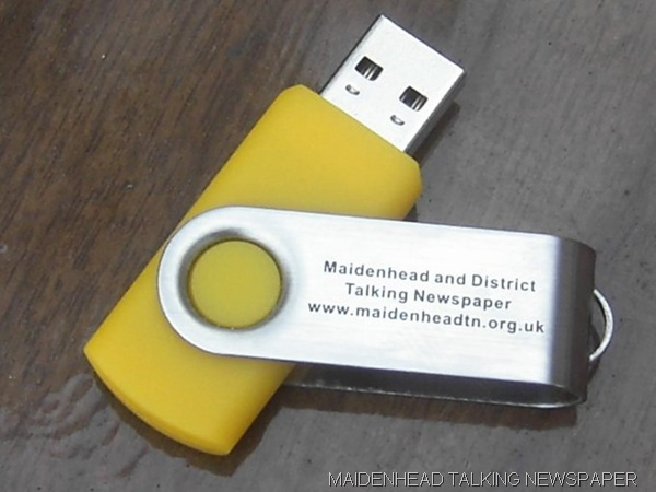STICK-ING OUT: One of the new USB memory drives, which will replace the old-fashioned tapes in the coming weeks.