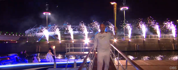 SHINE BRIGHT: Pyrotechnics greeted the flames arrival in E20.