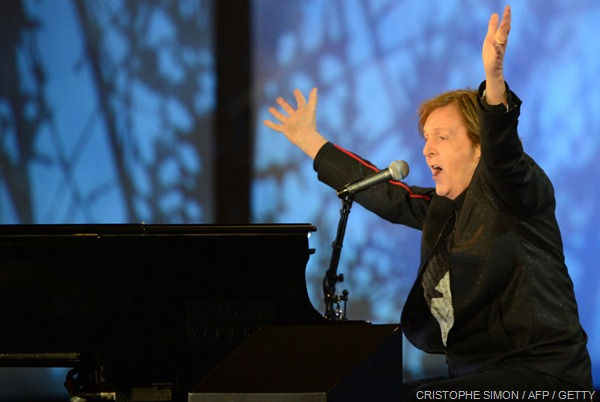 COME TOGETHER: Sir Paul McCartney closed the show with a mass singalong of 'Hey Jude'.