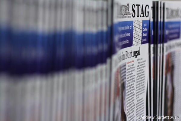 FIRST BATCH: Editions of the new-look school newsmagazine, The Stag. (IMG_3875)