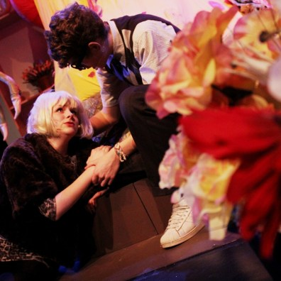 THE DREAM COUPLE: Audrey (Tilly Mitchell) dies in Seymour's (Mark Janes) arms soon after being mauled by the Audrey II plant. (IMG_2752_ARB)