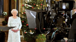 DELIVERING LINES TO CAMERA: The Queen's Christmas broadcast is expected to praise the 'splendid summer of sport' and our TeamGB Olympic and ParalympicsGB Paralympic athletes.