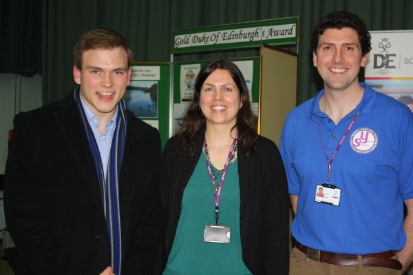 After nearly a decade of leading Burdett offspring through DofE Awards, Andrew stands with Helen Smith and James Wragg, after collecting his Gold Award.