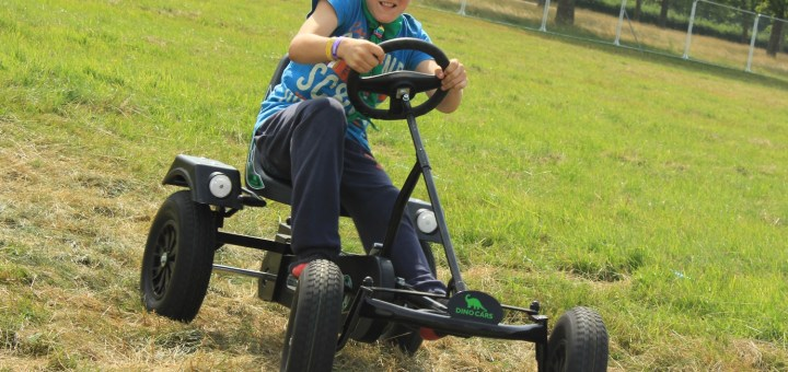 Harvey takes a driving seat at the Fling It! activity at WINGS2014.