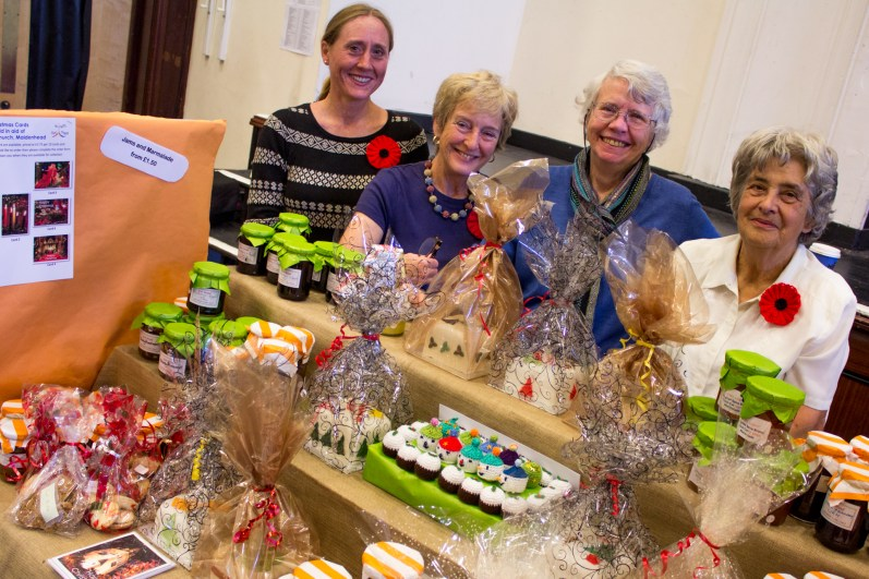 Ladies from St Luke's Church, Maidenhead, at the helm of the Norfolk Road church's 'Harvest Produce' stall.