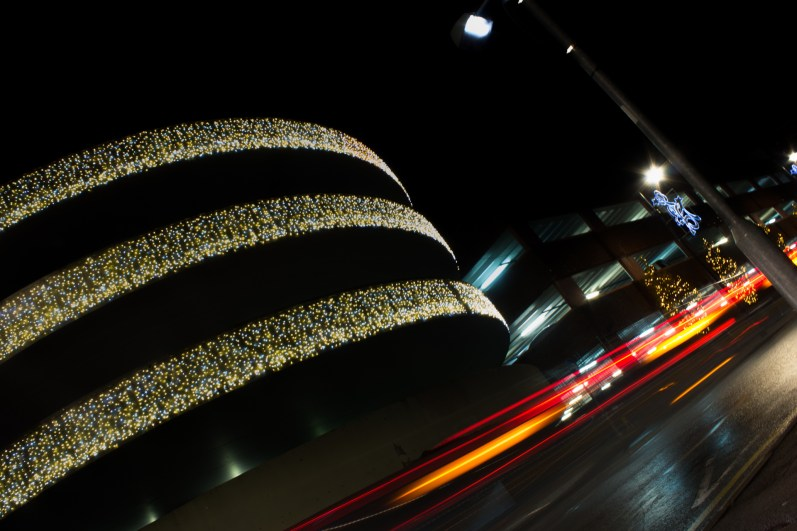 Whilst photographing Maidenhead's illuminations, shoppers began leaving the car-park, setting off down Broadway.