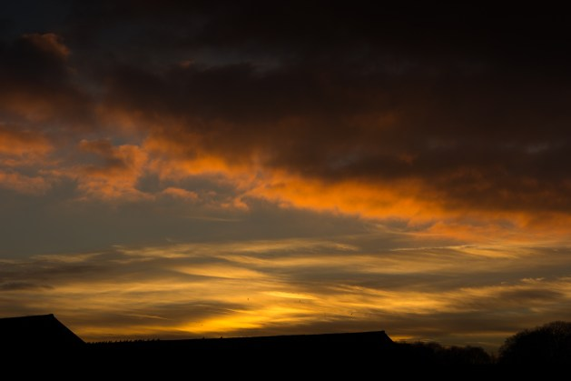 Sunset, seen from the Waddesdon Manor car-park.