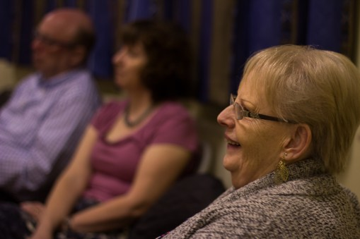 Some chose to sit, whilst others danced at the Community Hall event.