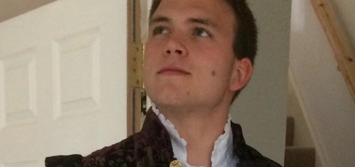 Andrew Burdett in costume as Slender.