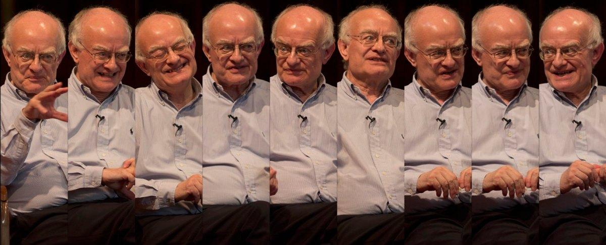 Snapshots of John Rutter's animated talk at St Luke's Church, Maidenhead.