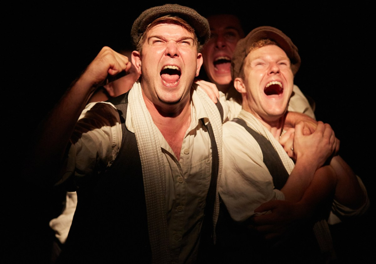 Kieran Knowles as Tommy and Paul Tinto as Phil in Operation Crucible at Sheffield Theatres.