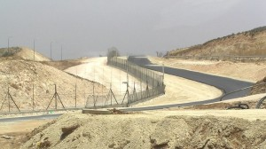 Israel's security barrier near Hebron.