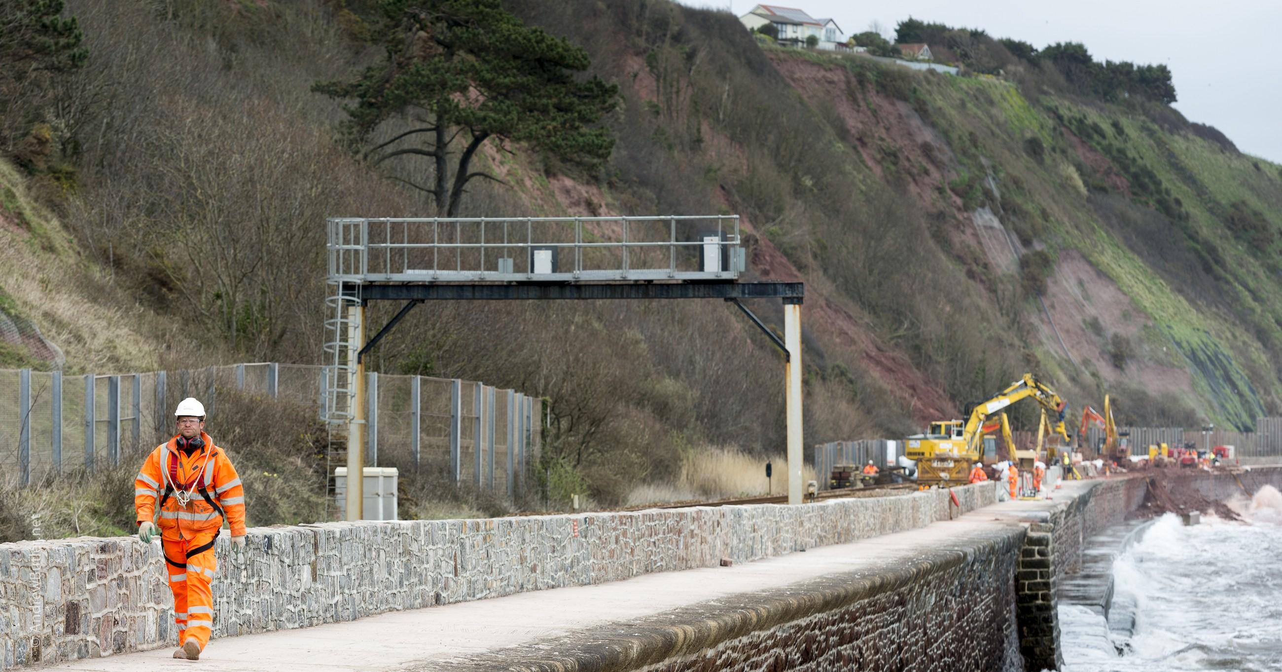 Teignmouth Flood Rail Works by Exeter Devon Commercial Industrial Construction Photographer - Andrew Butler
