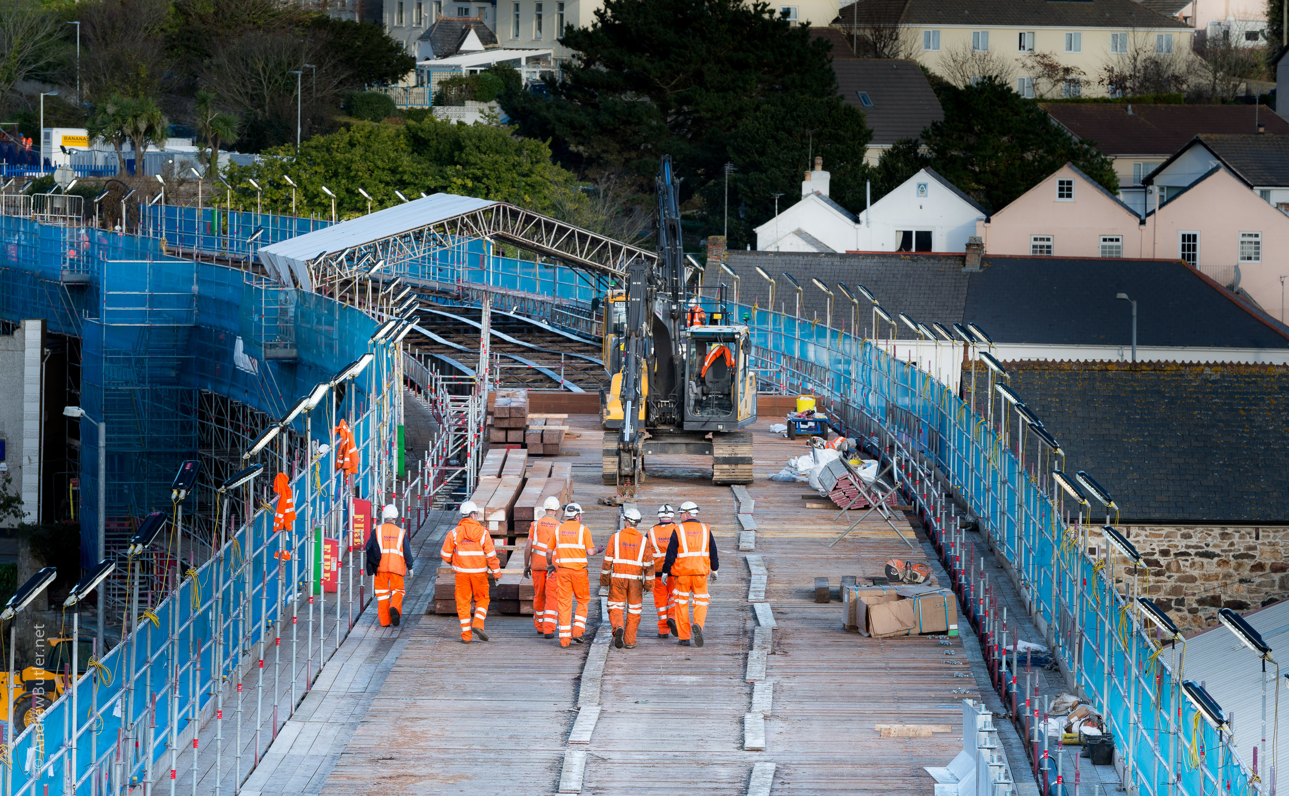 Civil Engineering - Network Rail Photography - Hayle Viaduct Cornwall Of Exeter Devon