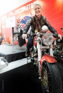 Karin on the Mac by motorbike photographer Andrew Butler