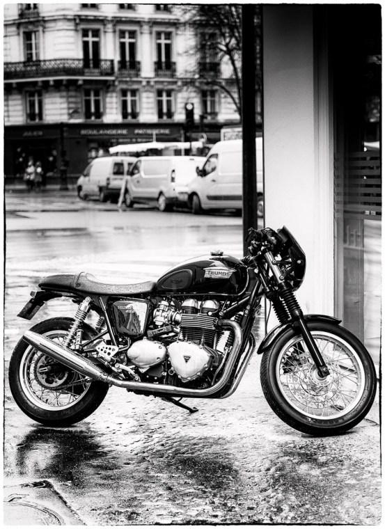 Triumph in Paris by motorbike photographer Andrew Butler