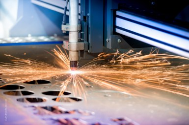 Plasma cutter Manufacturing and industrial photography by commercial photographer Andrew Butler