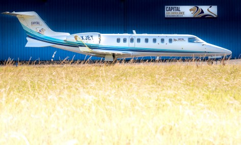 Exeter Learjet Photographer