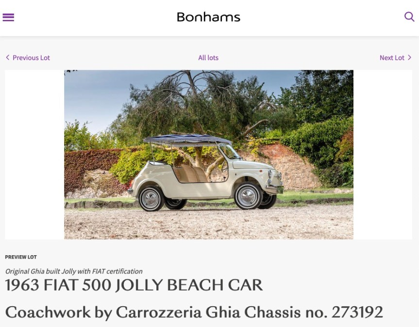 Motor Photography for Bonhams