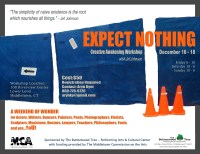 "Poster for ""Expect Nothing"" workshop"