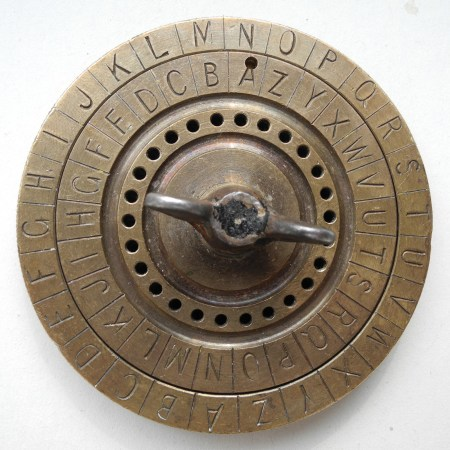 a US Civil War era cipher disk for calculating coded messages