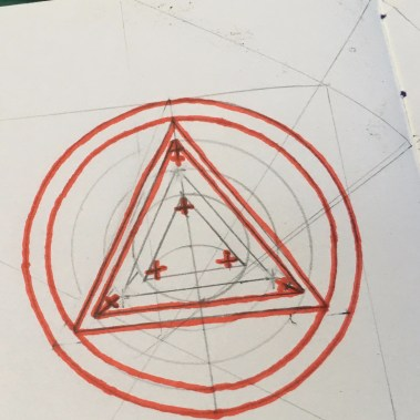 Inked Red Triangles