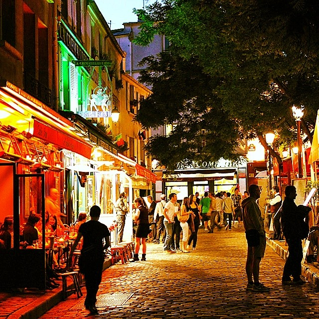 #Montmartre, #Paris at night