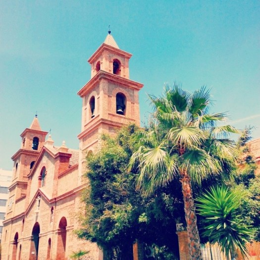 A sunny day in #Spain! #church #cathedral #palmtree