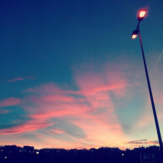 """Northern Lights"" in Torrevieja, Spain. October, 16, 2014"