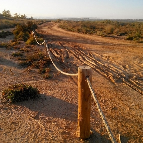 Hiking trail near the Salina de La Mata