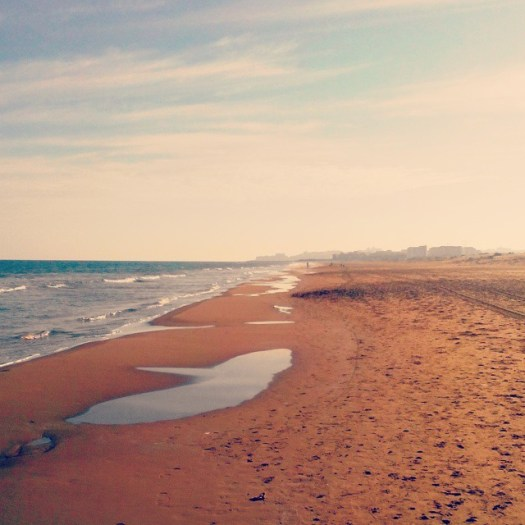 La Mata Beach in Winter. January, 24, 2015